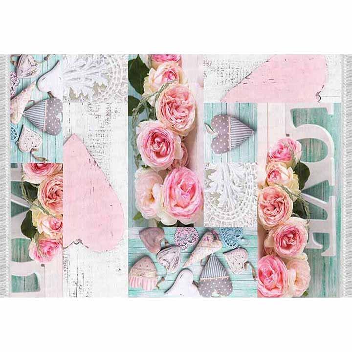 Tempo Kondela Koberec, vzor ruže, viacfarebný, 120x180, SONIL TYP 2