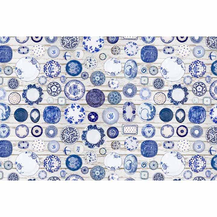 Tempo Kondela Koberec, modrá/krémová, 80x200, PARLIN