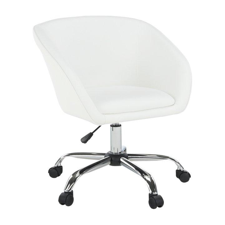 Tempo Kondela Kancelárske kreslo, biela ekokoža/kov, LENER