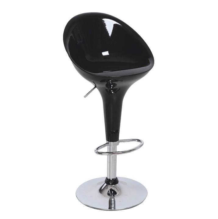 Tempo Kondela Barová stolička, čierna/chróm, ALBA NOVA