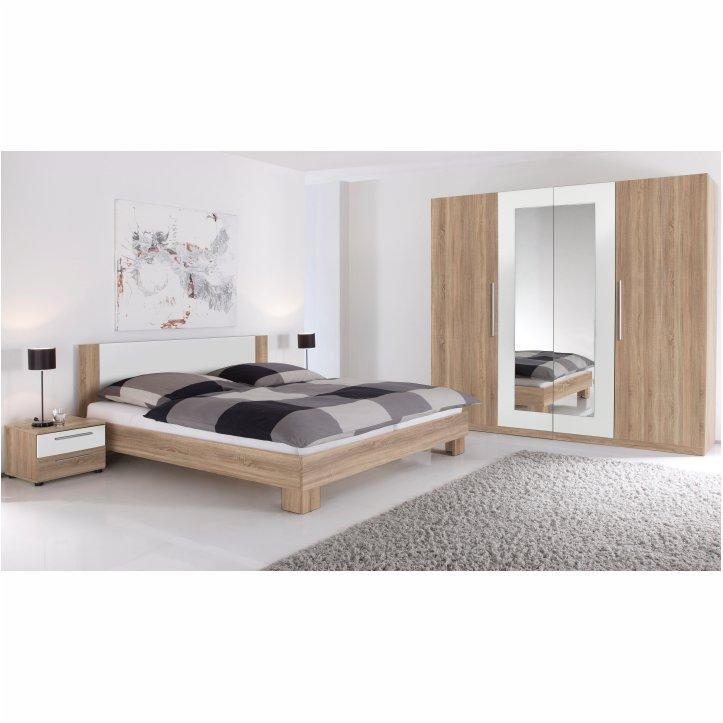 Tempo Kondela Spálňový komplet (skriňa, posteľ a 2 nočné stolíky), dub sonoma/biela, MARTINA