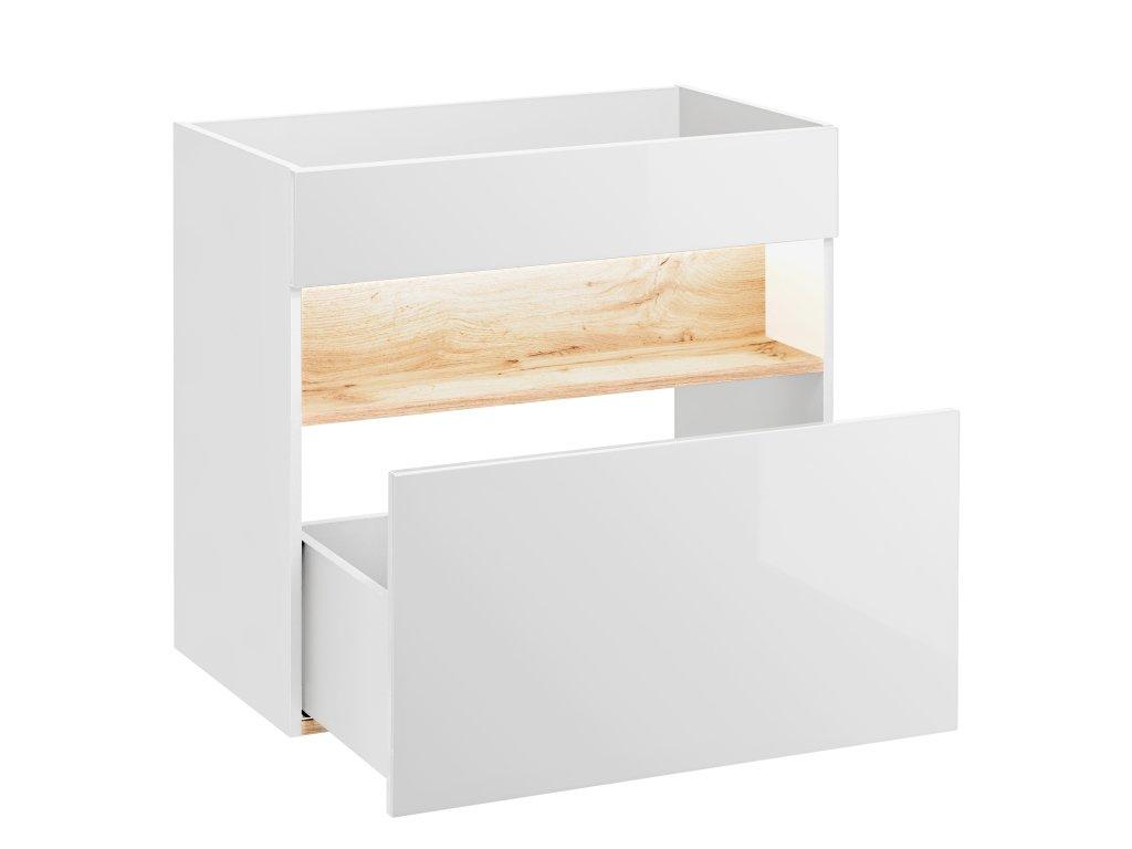 COM Moderná závesná skrinka pod umývadlo BAHAMA WHITE 820 UMÝVADLO: Nie