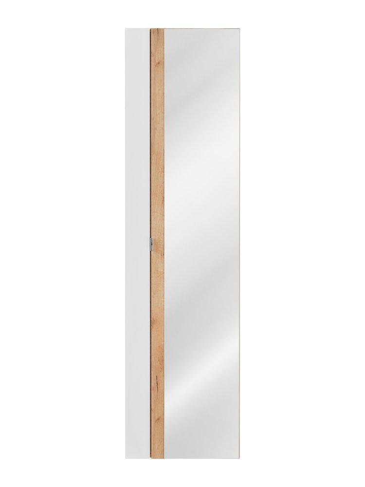 COM Vysoká skrinka so zrkadlom CAPRI / biela 803