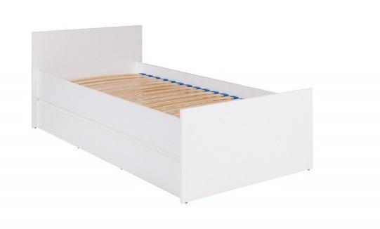 Maridex Jednolôžková posteľ COSMO C08 FARBA: Biela