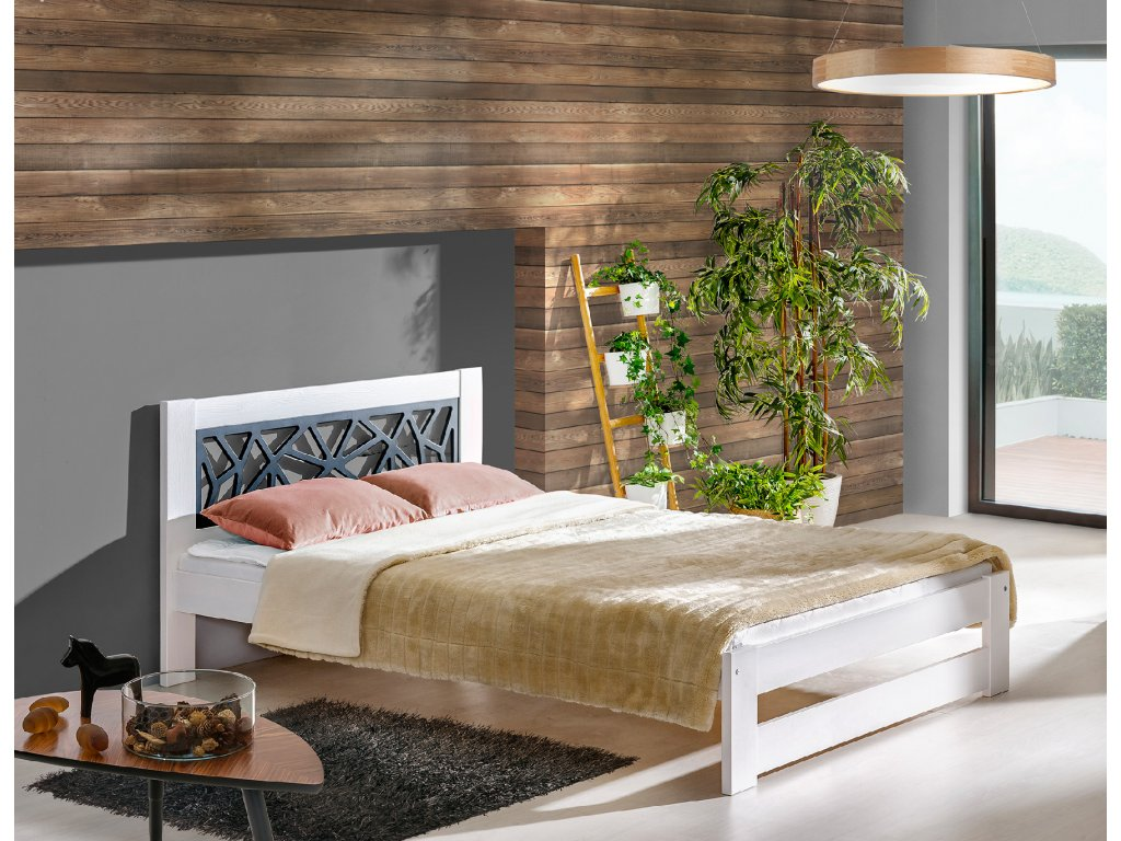 DOLMAR Manželská posteľ KOSMA ROZMER: 120 x 200 cm