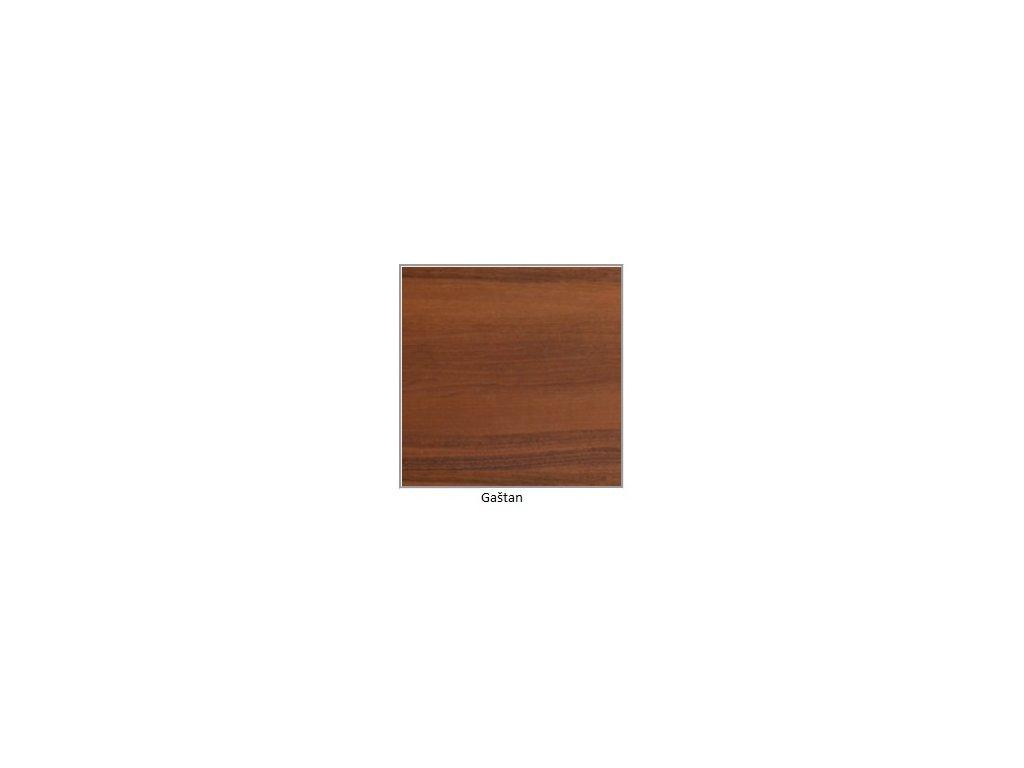 DREWMIX Jedálenský set - stôl WENUS V / stoličky MILANO VII (1+6) Drevo: Gaštan