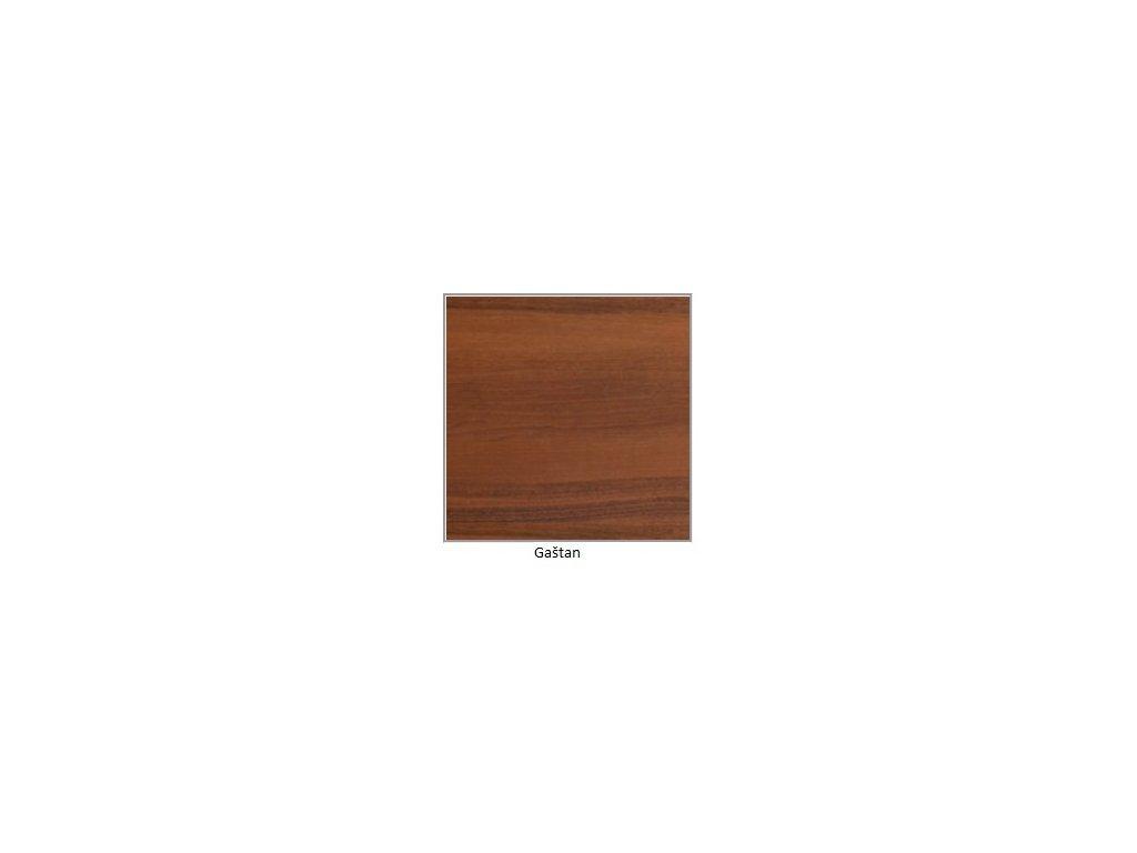 DREWMIX Jedálenský set - stôl WENUS V / stoličky NILO II (1+6) Drevo: Gaštan