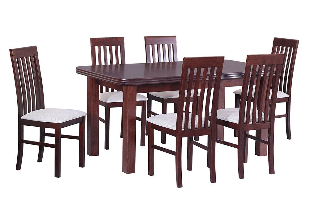 DREWMIX Jedálenský set - stôl WENUS V / stoličky NILO I (1+6)