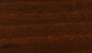 DREWMIX Jedálenský set - stôl WENUS V / stoličky NILO IV (1+6) Drevo: Orech
