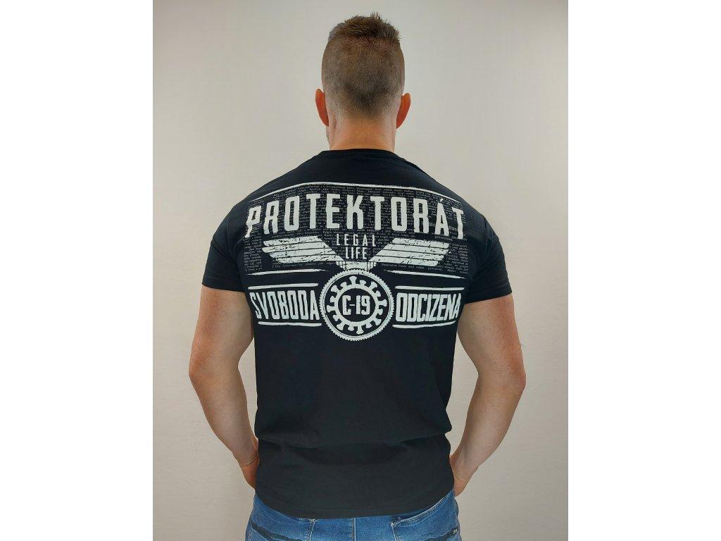 Legal Life pánské triko PROTEKTORÁT černá (Velikost 3XL)