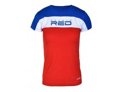Dámské triko OUTSTANDING Blue/Red obr1