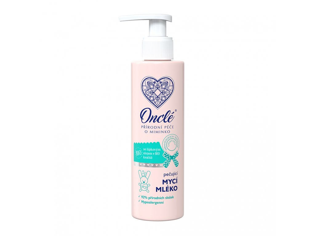 1043 Onclé dětský pečující mycí mléko 200ml front M