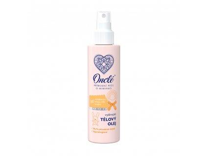 1041 Onclé dětský vyživující tělový olej 200ml front M