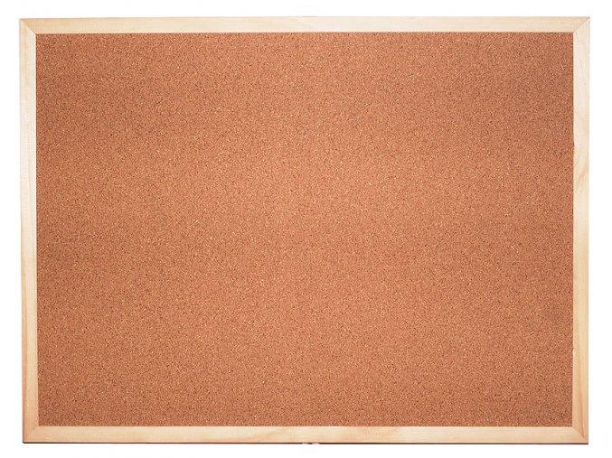 Korková tabule jednostranná 90 x 60 cm (balení po 6 ks)