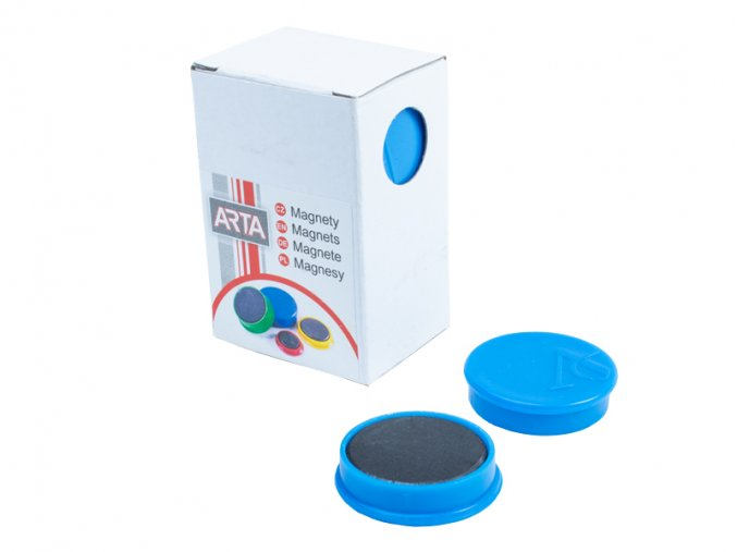 Magnety ARTA průměr 30mm, modré (10ks v balení)