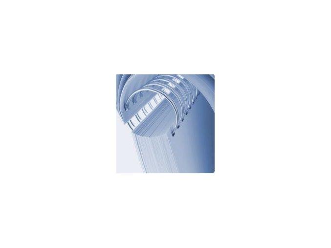 Kovové hřbety 2:1 25,4 mm bílé - balení 25 ks