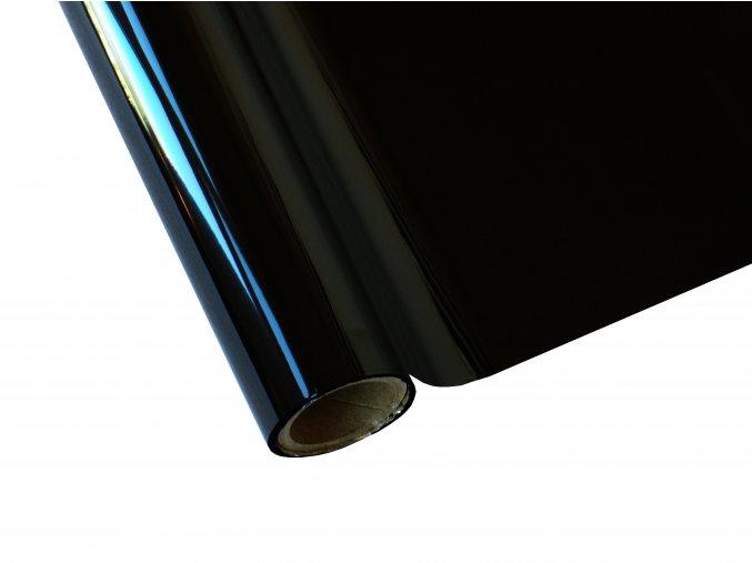 Metalická fólie barvící - černá - š.30 cm x 12 m