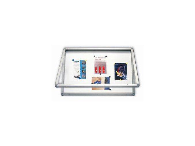 Venkovní magnetická vitrína - 6xA4/75x70cm
