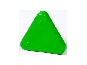 Voskovka trojboká Magic Triangle neon chromově zelená