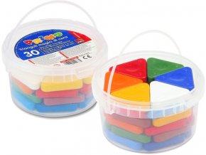 Sada voskových pastelek BASIC MAGIC, 30 ks ( 10barev x 3ks)