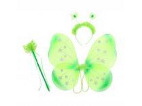 sada motýl zelená