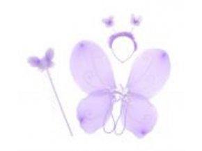 sada motýl fialová