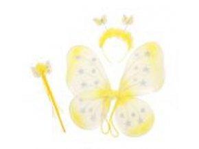 sada motýl žlutá