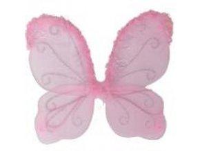 sada motýlí růžová