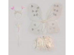 sada motýlí bílá