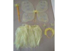 sada motýlí žlutá