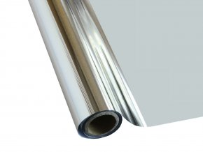 Metalická fólie barvící - stříbrná 30 cm x 12m