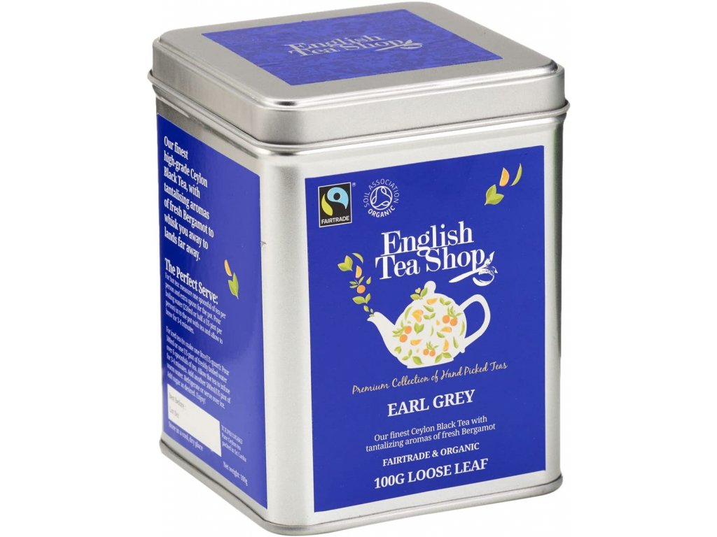 English Tea Shop Sypaný Earl Grey 100 g, bio a fairtrade ETS100