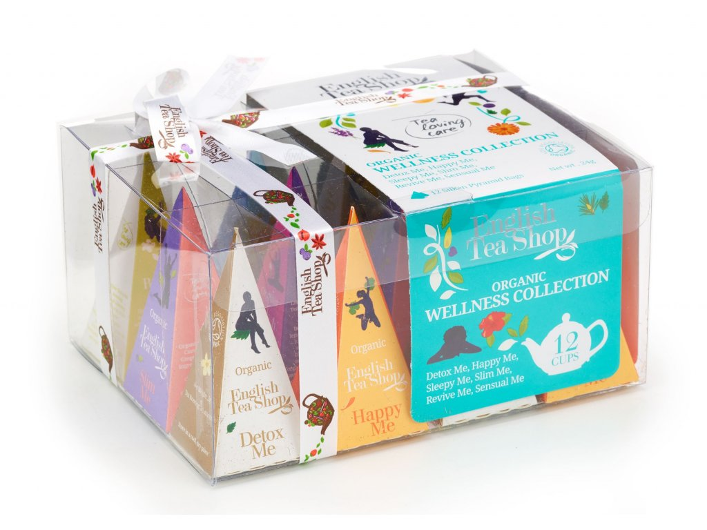 English Tea Shop Dárková sada Wellness 24 g, 12 pyramidek, bio ETS12