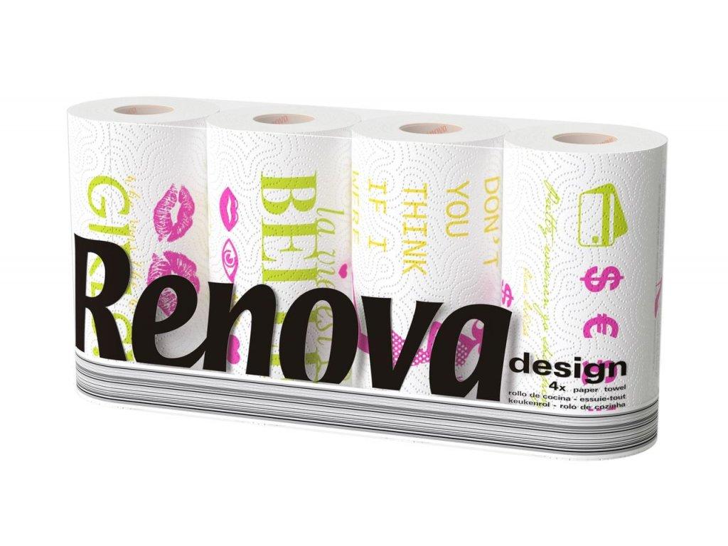 Renova kuchyňské utěrky Design 4ks 5601028012775