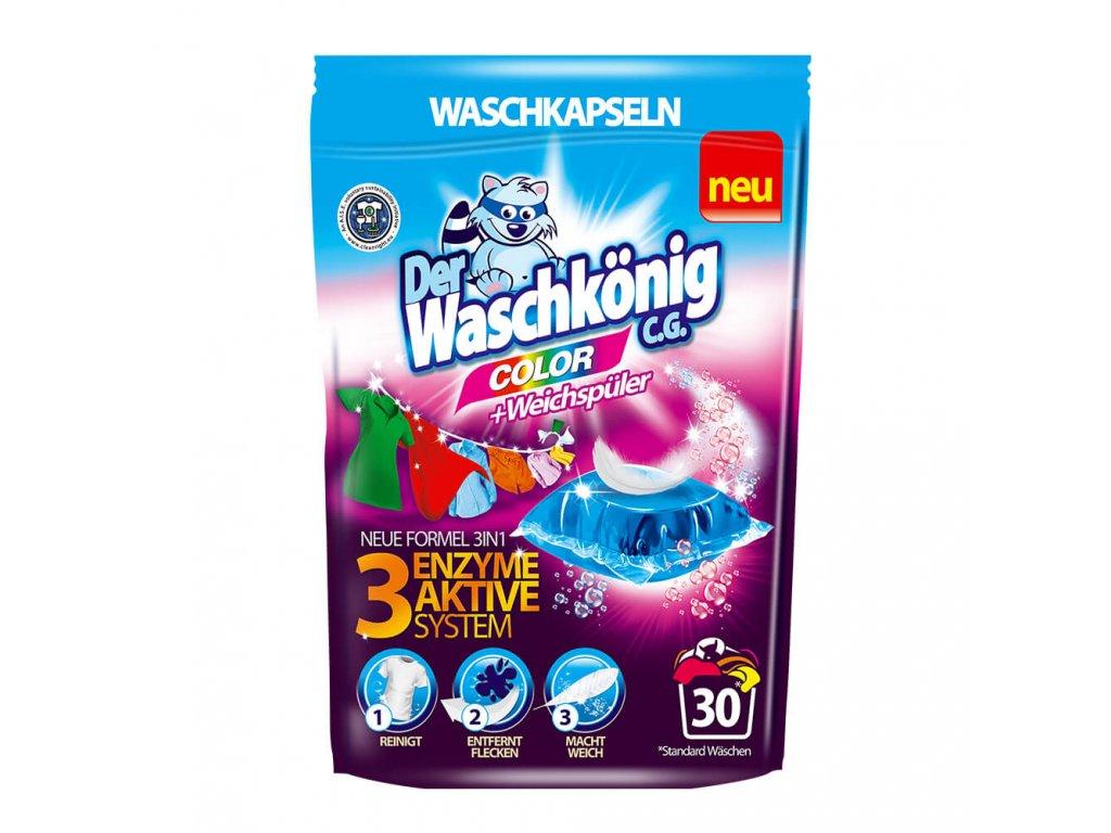 WaschKönig kapsle na praní 30 ks 3v1 Color