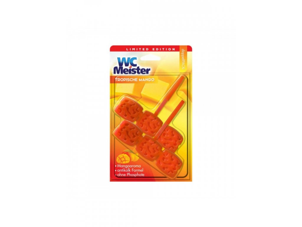 WC Meister závěska do WC DUO 2x45g Tropische Mango 4260418932386