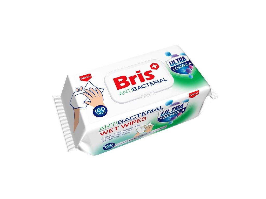 Bris vlhčené Antibakteriální ubrousky 100ks nové 736292426968