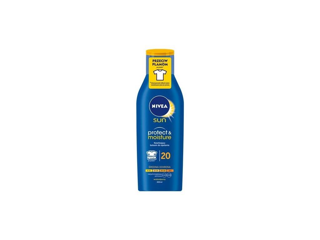 8178 nivea sun 20 protect and moisture mleko 200ml