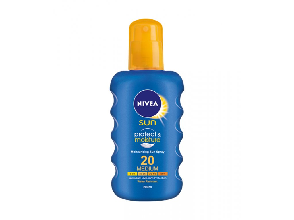 8181 nivea sun 20 protect and moisture spray 200ml
