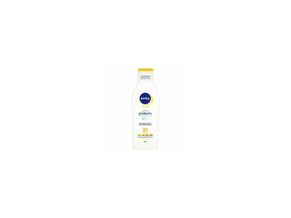 Nivea Sun 30+Protect and Sensitive mléko 200ml