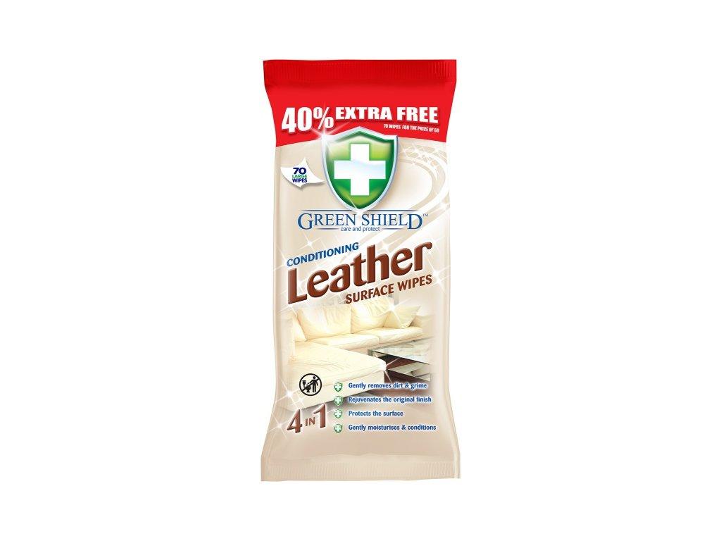 9674 green shield leather 70ks vlhcene ubrousky na boty a kuzi
