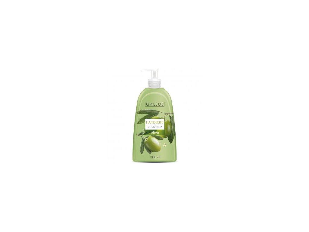 Gallus tekuté mýdlo s pumpičkou 1L Oliva 4251415300537