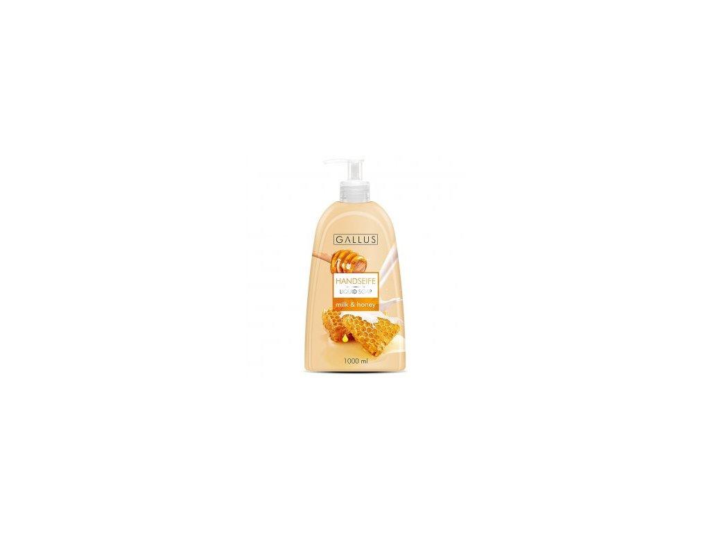 Gallus tekuté mýdlo s pumpičkou 1L Mléko a Med 4251415300520