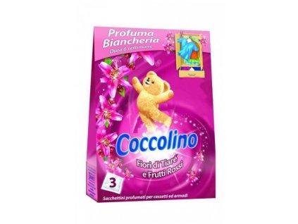 Coccolino vonné sáčky Frutti Rossi 3ks růžové 8710908176852