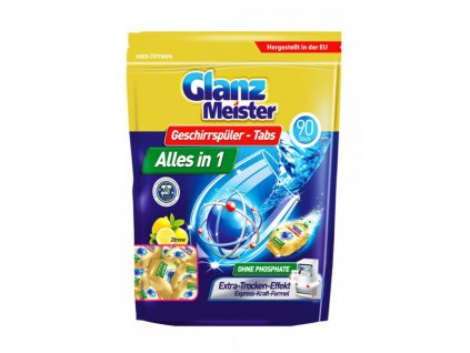 7515 glanz meister tablety do mycky alles in 1 90ks