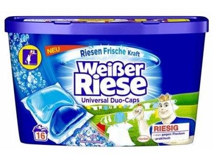 Weisser Riese DUO Caps prací kapsle Universal 16ks 4015000967525