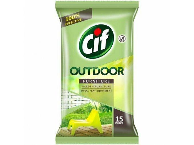 CIF Outdoor vlhčené ubrousky na velnkovní nábytek 15ks 8000630720639