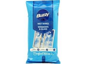 7641 buzzy vlhcene ubrousky windows glass 30ks okna a skla