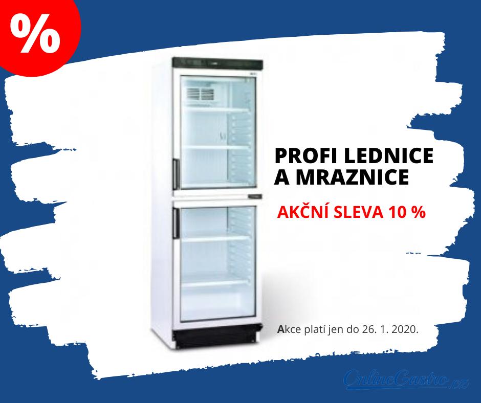 Profi lednice a mraznice nyní se slevou 10 %