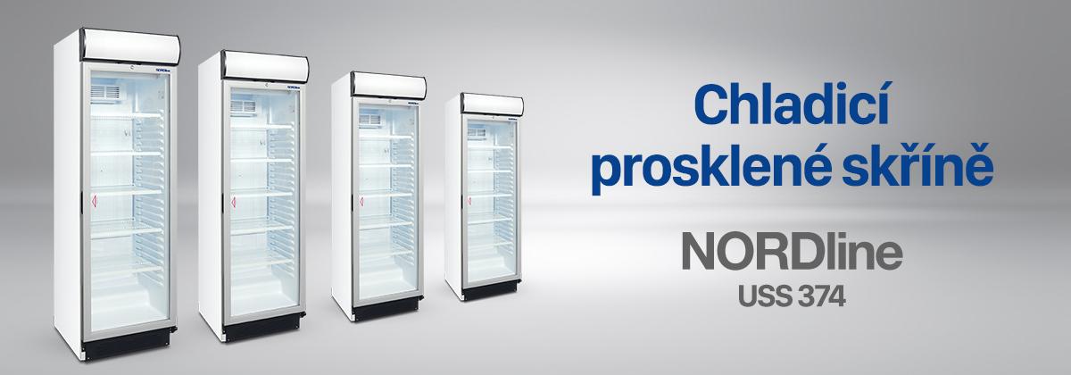 Nordline chladící skříně prosklenné